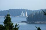 Distant schooner