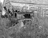 Abandoned truck BW