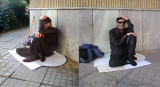 Two views of a Sitting Beggar