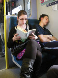 She reads, he snores !