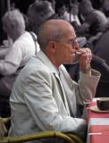 Smoking lonely man