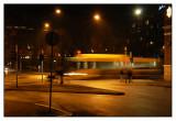Street scene with bus