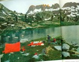 Retro Tent In   Ritter Range  Along Pacific Crest Trail ( 1971 )