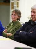 Mrs. Don Olin And Wayne Long Listern  At Meeting
