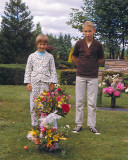 Sis ( Barbie ) and Me at Grandpa's Grave,, 1967