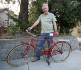 Mel  With His 1955   Schwinn  Racer , He Used As A Kid Delivering Papers