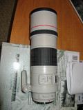 Canon F4 300mm IS  L  lens With It's Hood Extended