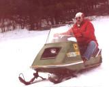 Old School  1970 John Deer Snow Mobile In Action~~
