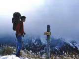 Phil ( Section Hiker ) Overlooking  Blue Bell Pass: In Washington