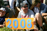 Jester Holds 2008 Thru-hiker Class Sign