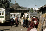 Bus station at Mandi, gateway to the Kulu Valley in northern India