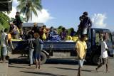 Unloading at Honiara Central Market