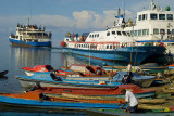 Auki's busy harbour
