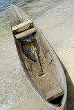 Dugout canoe and paddle