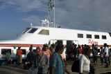 Disembarking from the Express Pelican at Noro