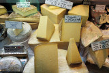Local cheeses at Les Halles, Nimes