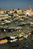 Djemaa El Fna - view from the Hotel CTM