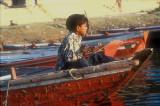 Boy in a boat, Varanasi