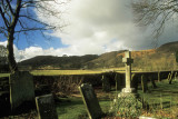 Churchyard at Eyam, the plague village