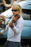 Young busker at Evandale Farmers Market