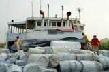 Pinisi, inter-island steamers, loading at Sunda Kelapa