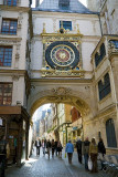 Medieval clock, Le Gros Horloge, in Rouen (Normandy)