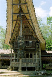 Traditional boat-shaped Toraja home