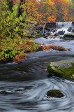 NH - Fall Stream with Swirling Water