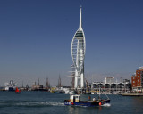 The Spinnaker Tower in the harbor of Portsmouth, England