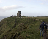 The tower at the Cliffs of Moher in Ireland