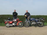 Honda CD 175 and Honda CB400F