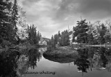 Raquette River From Kayak B/W