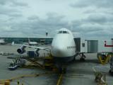 Our BA plane in London Heathrow Airport, Terminal 5