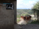 The ladie's washroom at Oldupai Gorge - someday I'm going to come out & turn the wrong way!