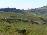 A Maasai village in the Ngorongoro Highlands