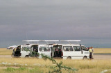 Micato vans waiting for us at the airstrip
