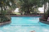 Amboseli Serena Lodge pool, looked really inviting