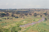 An almost dry Tarangire River