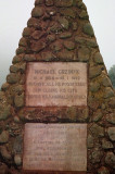 Michael Grzinek Monument on the rim of the crater