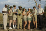 A lot of khaki going on here over sundowners