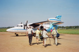 Boarding our next plane going to Kisumu, KY