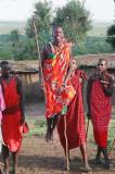 Maasai men jump