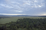 The Mara as seen from above the trees