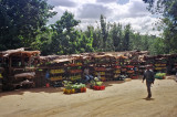 Markets along the road were quite common