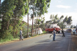 Oh no! It's a crashed Tusker beer truck!!