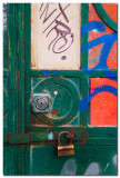 Cerradura con grafiti  -  Door lock with graffiti