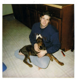 Scan from an old polaroid of me and my boy