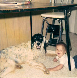 Me as a baby with Doc