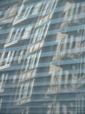Geary Street Tour Bus Window Reflection