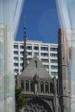 Grace Cathedral Window Reflection